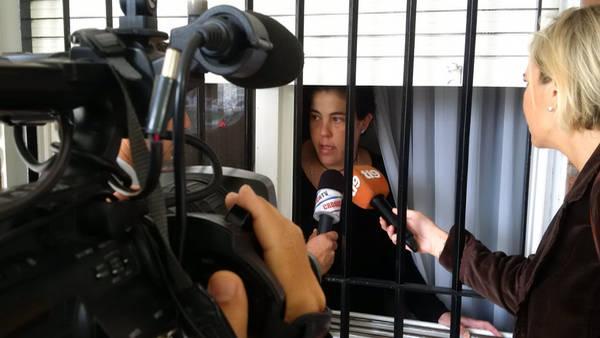La sobrina del matrimonio de jubilados robados en San Isidro tras una entradera. (Gustavo Ortiz)