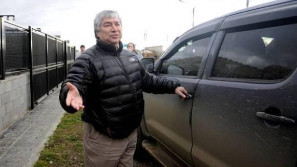Lázaro Báez, años atrás, en Santa Cruz. Sus empresas están en crisis, pese a los fondos millonarios que recibió.