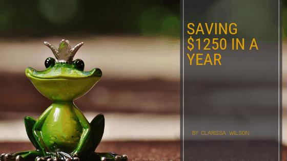 Saving 1250 in a year