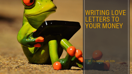 writing love letters to money blog header