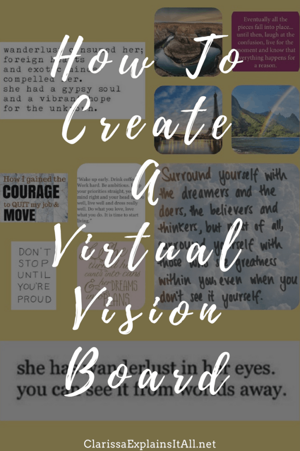 How To Create A Virtual Vision Board