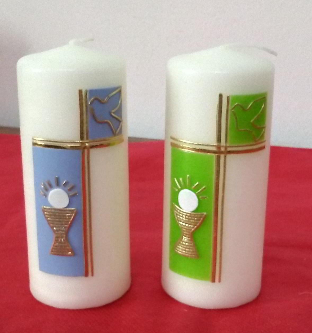Candele Prima Comunione e Cresima decorata