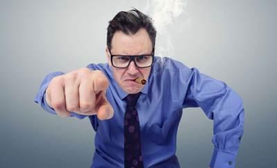 bad boss pointing finger