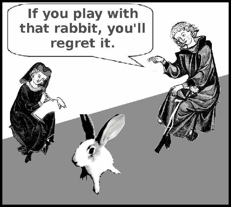 If you play with that rabbit, you'll regret it.