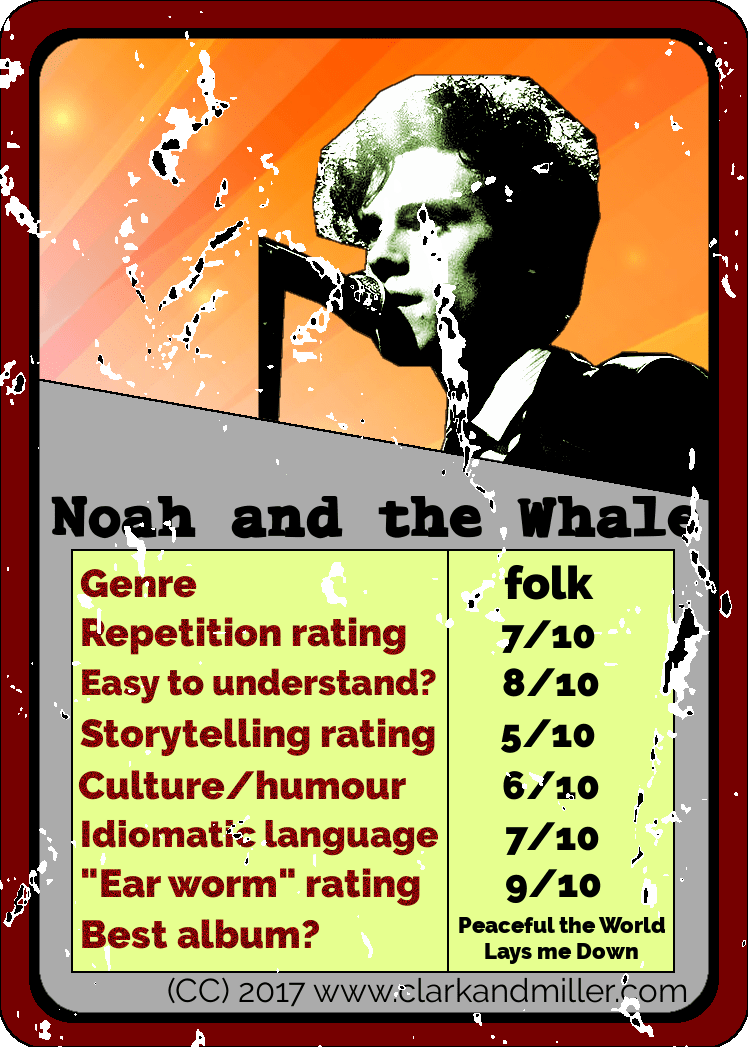 Noah and the Whale Top Trumps Card