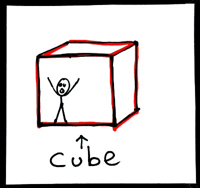 Shapes in English: cube