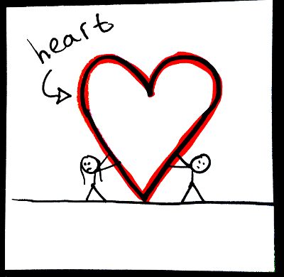 Shapes in English: heart