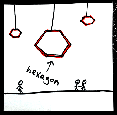 Shapes in English: hexagon