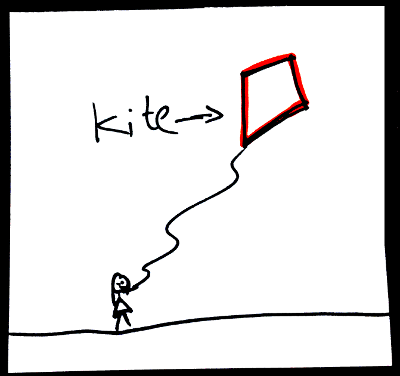 Shapes in English: kite