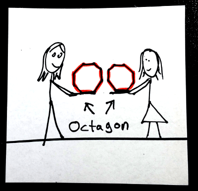 Shapes in English: octagon