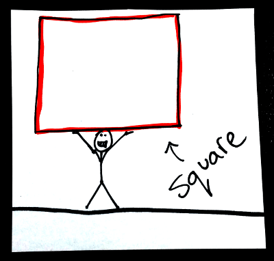 Shapes in English: square
