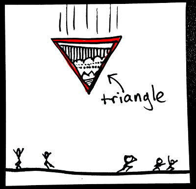 Shapes in English: triangle