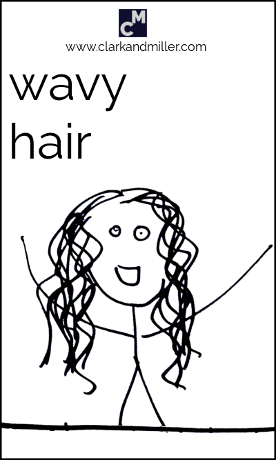 Stick figure with wavy hair