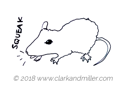 Squeak: a mouse making a sound