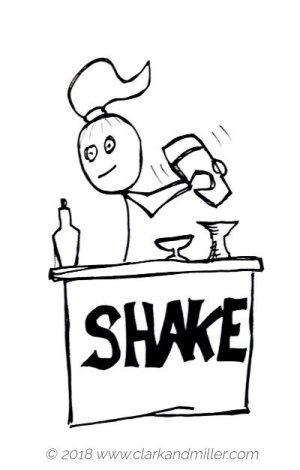 Verbs of movement: shake