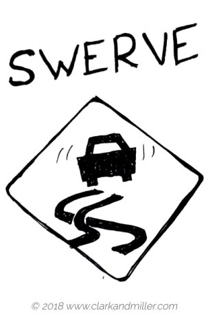 Verbs of movement: swerve