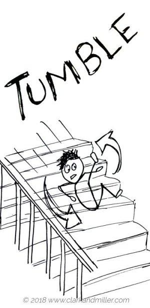 Verbs of movement: tumble