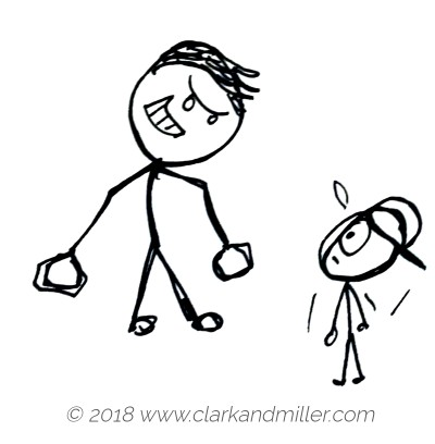 Stick figure bully
