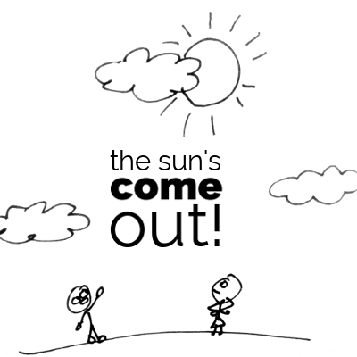 Weather vocabulary: the sun has come out