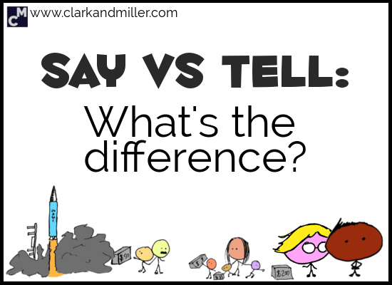 Say vs Tell: What's the Difference?