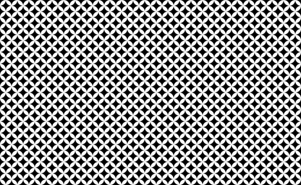 Black-and-white geometric pattern made up of small circles and squares