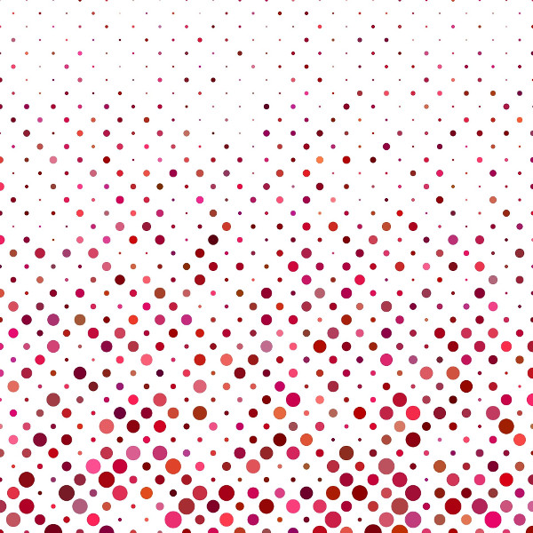 Spotted pattern of pink spots on a white background