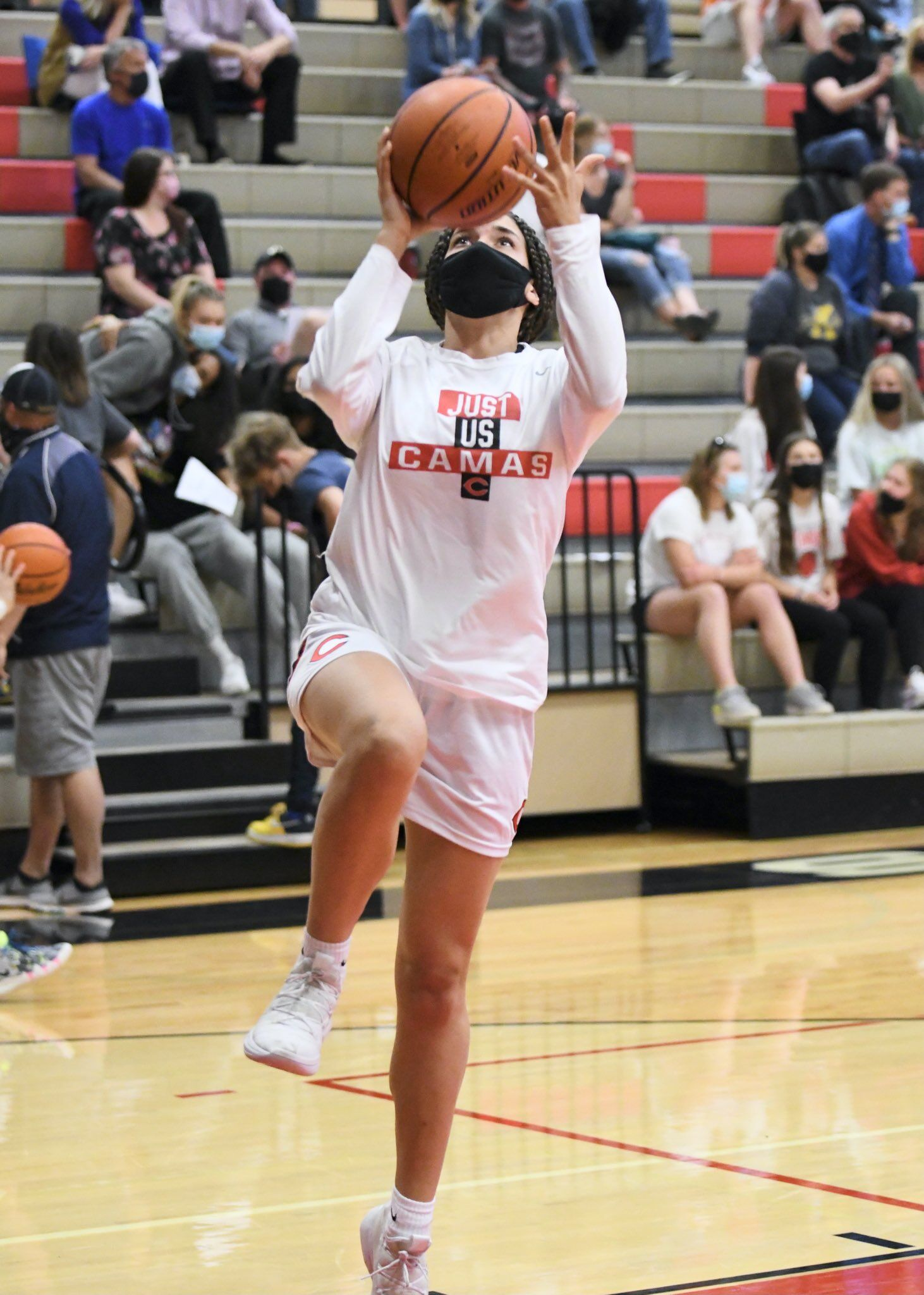 Jalena Carlisle is one of three senior members of the Camas basketball team to have welcomed a young wave of talent.  Coach Scott Thompson said Carlisle, Faith Bergstrom and Katelynn Forner have great basketball talent, but their leadership skills are even better.  Photo courtesy Kris Cavin