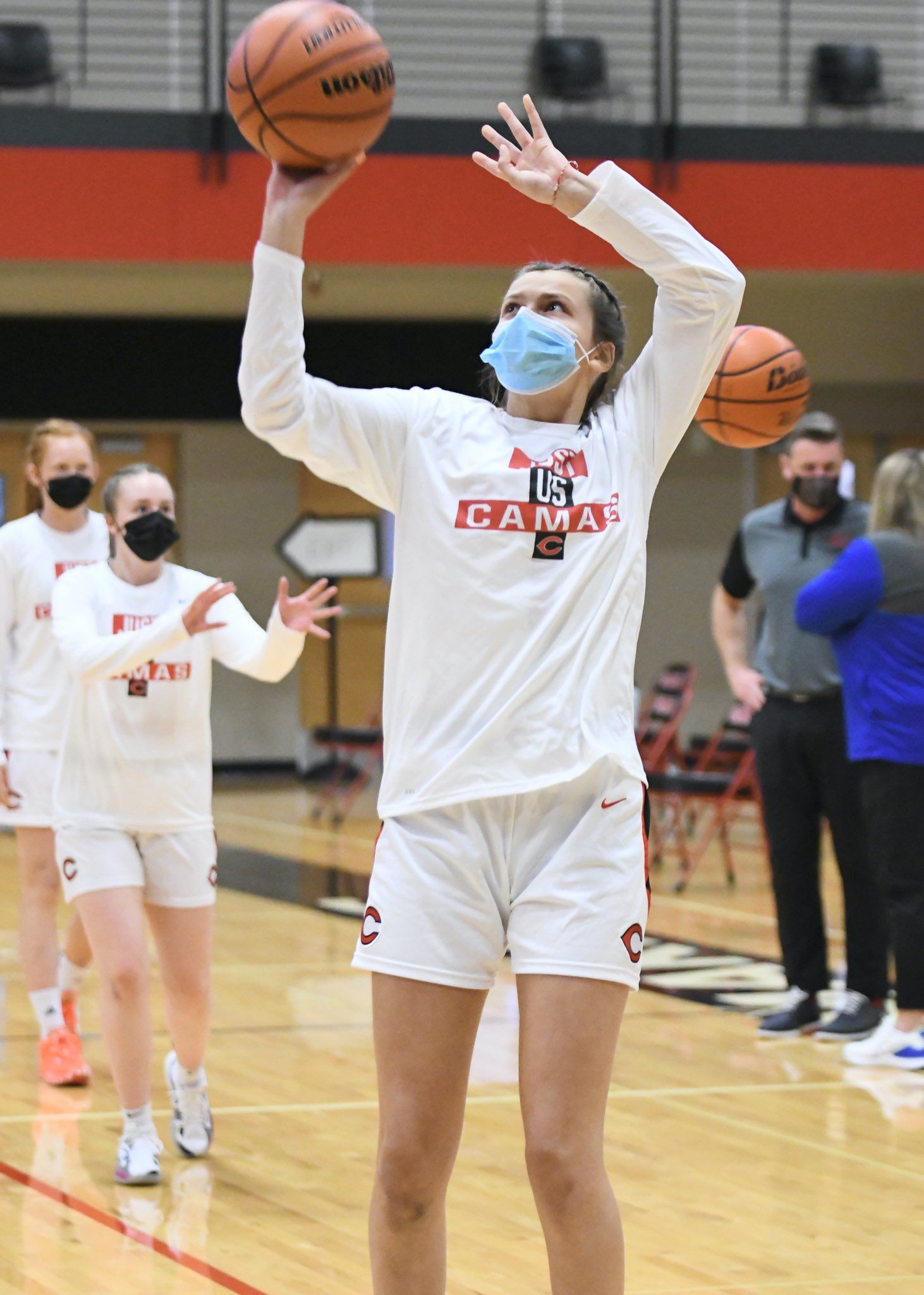 Reagan Jamison is one of five freshmen on the Camas girls varsity basketball team.  Paper makers are winning now and also have an eye on the future.  Photo courtesy Kris Cavin