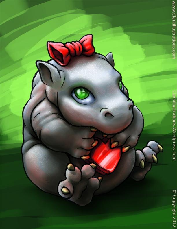 Baby Valentines day Hippo