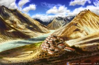 Monestary Landscape