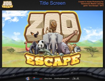 Zoo Escape Title Screen (Gamezand)
