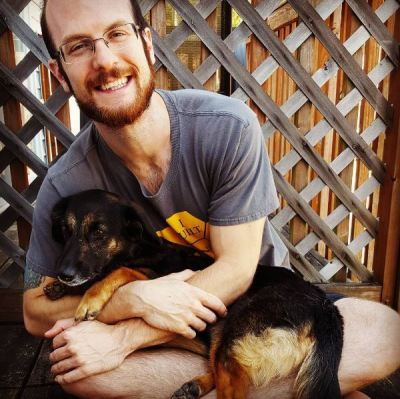 Chris & his puppy Sydney