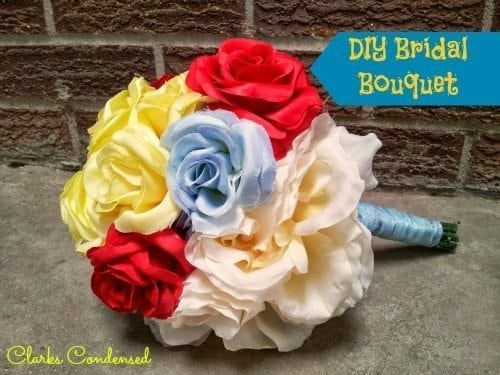 DIY Bridal Bouquet Tutorial -- simple, and can easily be used to make more complicated arrangements