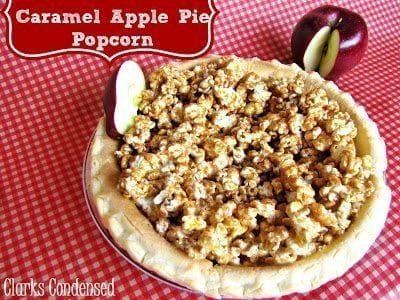 Gourmet Caramel Apple Pie Popcorn