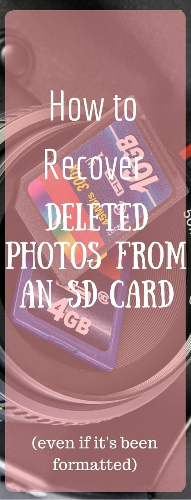 Did you accidentally delete photos from your SD card? Here is how you can recover them for free (even if it's been formatted!)