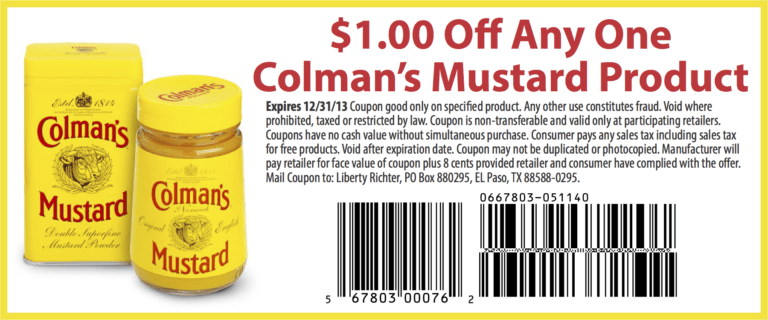 Colman's Mustard Coupon