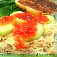 Thai Peanut Chicken Salad Sandwich