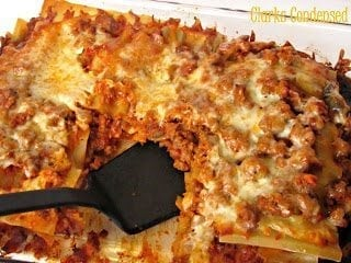 Easy Meat Lasagna by Clarks Condensed