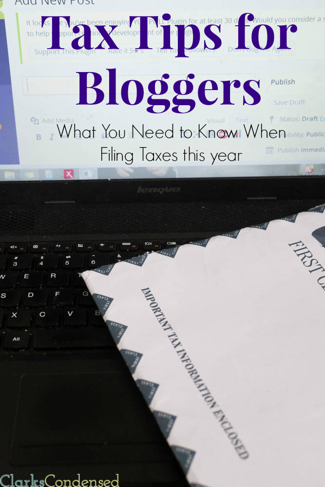 Tax Tips for Bloggers -- What You need to Know When Filing Taxes this year