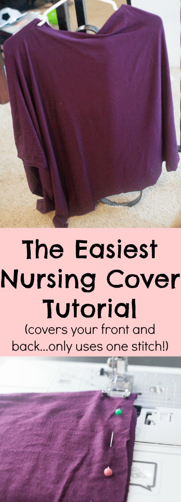 nursing cover / diy nursing cover / easy nursing cover / easy diy nursing cover / breastfeeding cover / poncho nursing cover via @clarkscondensed