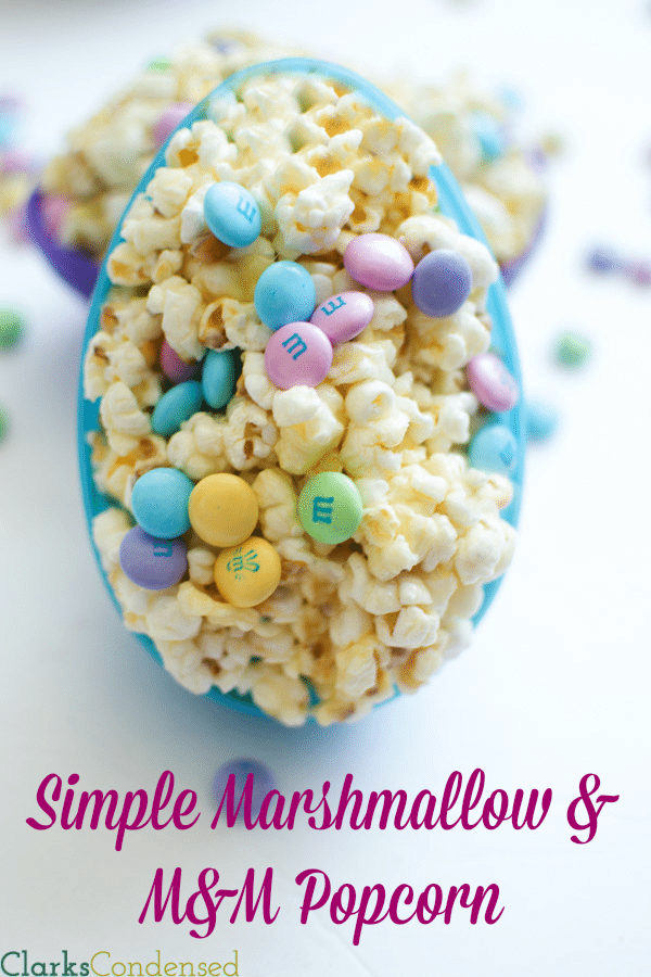 *M&M and Marshmallow #Popcorn* An easy recipe that is really yummy, and is sure to disappear quickly! Perfect for an Easter treat.