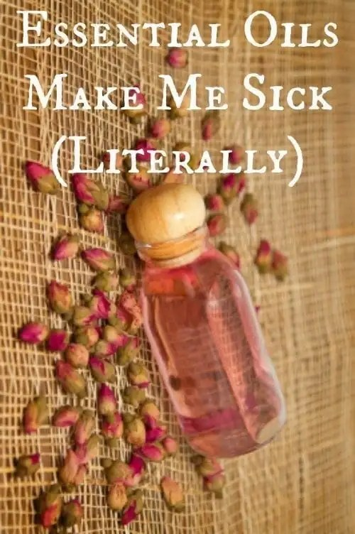 Essential Oils work great for a lot of people...I'm not one of them. Here's my story about how essential oils make me sick (literally)