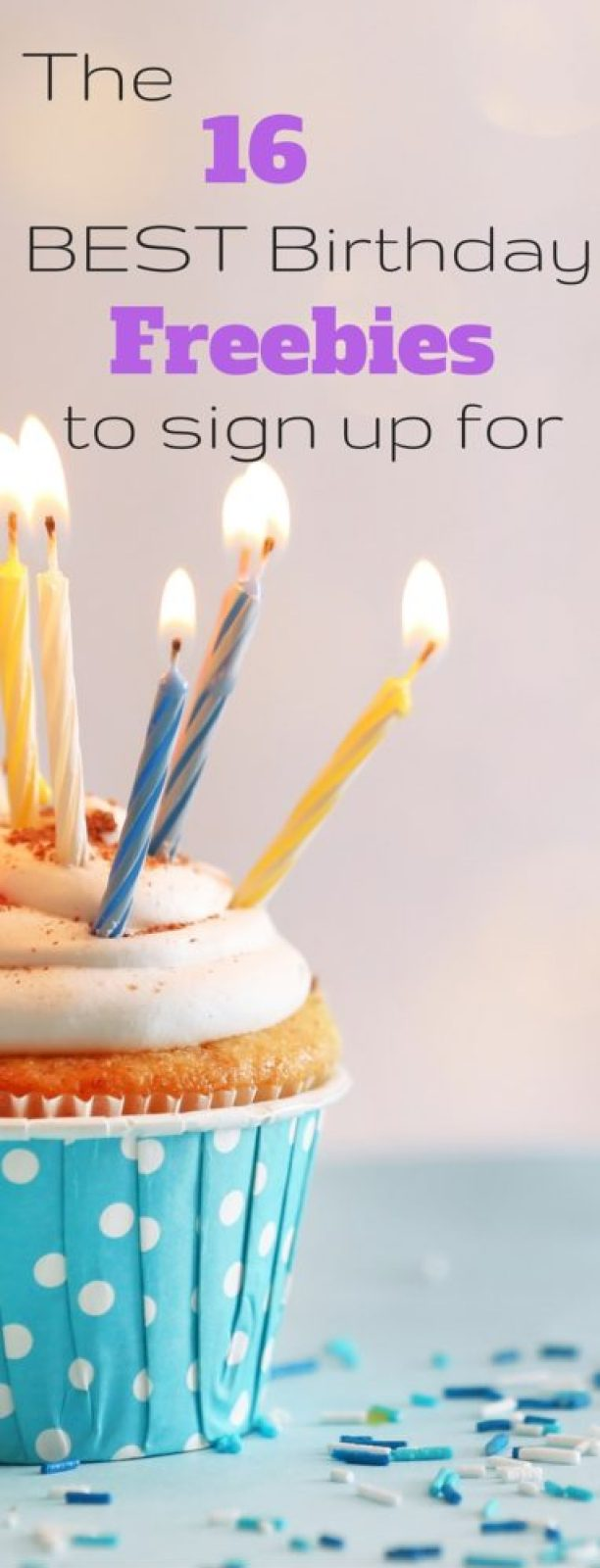 The BEST birthday freebies to sign up for - lots of free food with no purchase necessary!