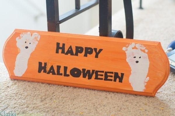 Silhouette Happy Halloween Sign