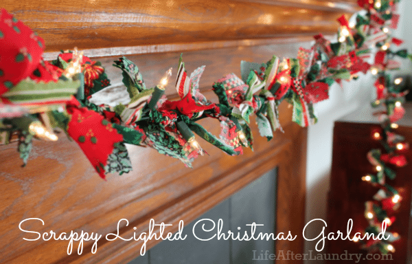 scrappy lighted christmas garland