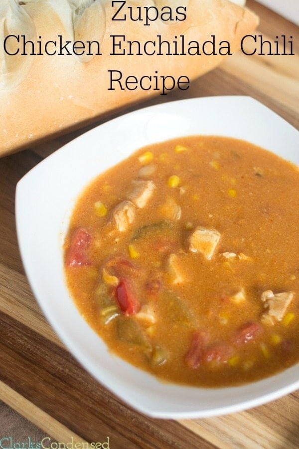 Copy Cat Zupas Chicken Enchilada Chili Recipe