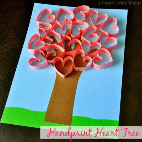 Handprint Heart Tree Craft
