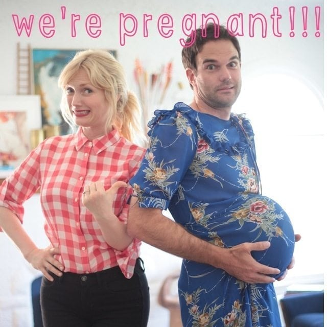 Pregnancy Announcement - Guess who's pregnant man guy belly or female