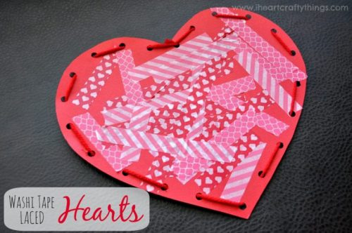 Washi Tape Laced Hearts