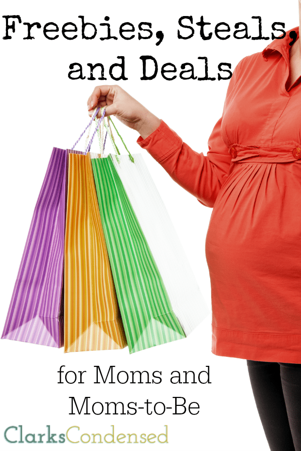 A list of great discounts and freebies for moms and moms-to-be that are worth signing up for, as well as a free great ways to save money.
